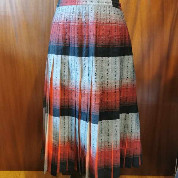 Vintage Highland Queen Wool Pleated Skirt Size 14